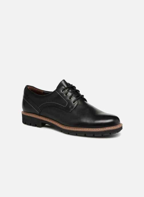 Lace-up shoes Clarks Batcombe Hall Black detailed view/ Pair view