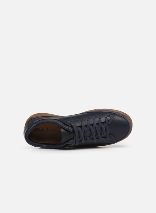 Sneaker Clarks Nathan Craft blau ansicht von links