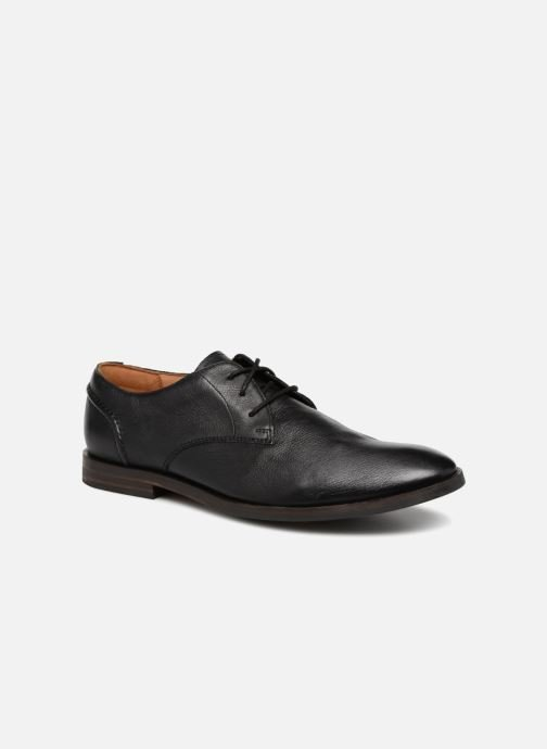 Lace-up shoes Clarks Glide Lace Black detailed view/ Pair view