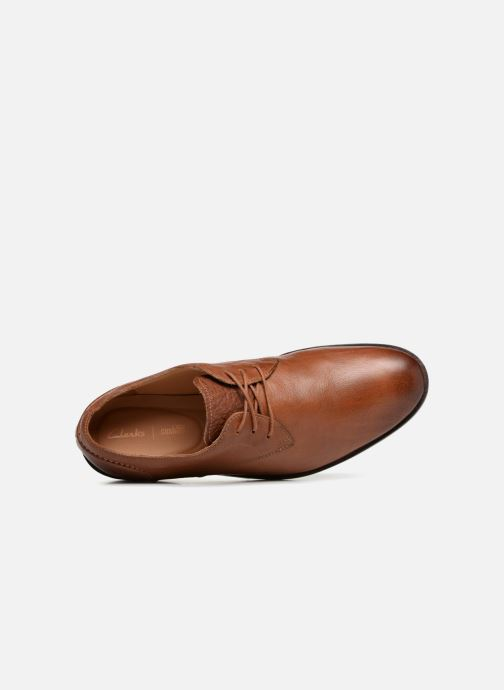 Lace-up shoes Clarks Glide Lace Brown view from the left