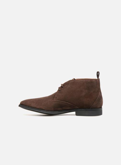 Boots en enkellaarsjes Clarks Gilman Mid Bruin voorkant