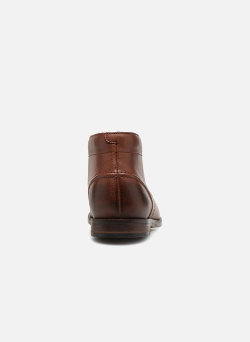Ankle boots Clarks Glide Chukka Brown view from the right