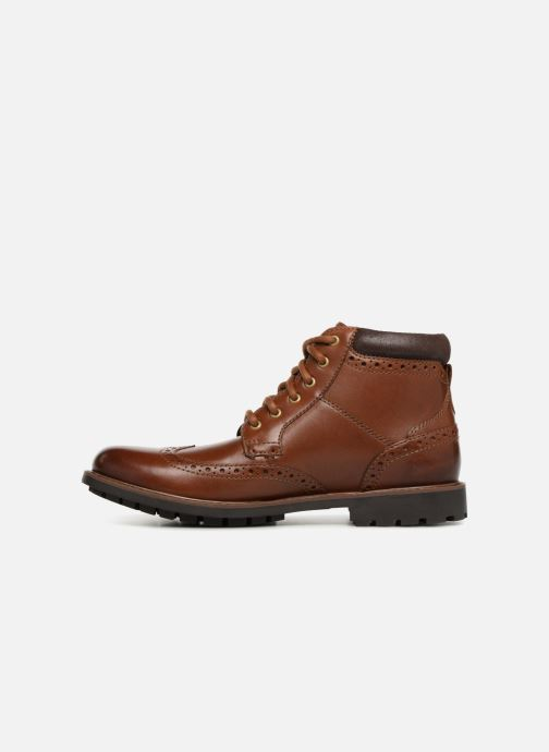 Ankle boots Clarks Curington Rise Brown front view