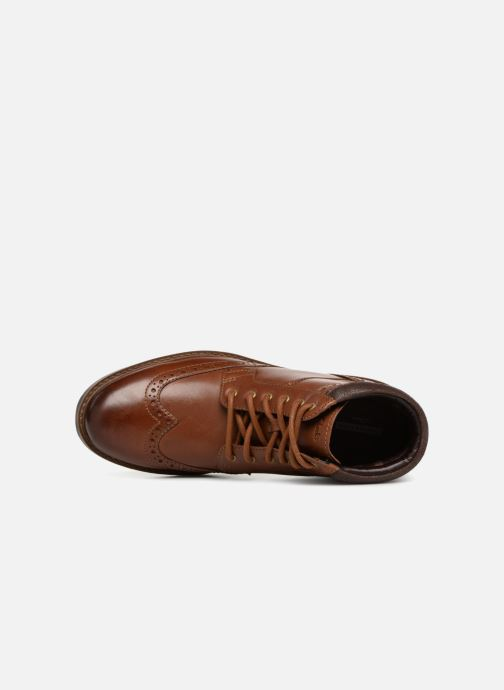 Ankle boots Clarks Curington Rise Brown view from the left