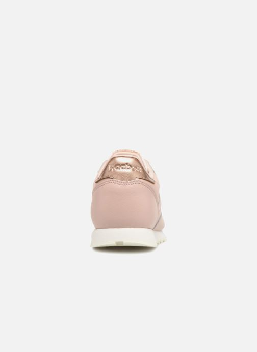 Trainers Reebok Classic Leather J Pink view from the right