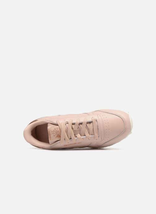 Trainers Reebok Classic Leather J Pink view from the left