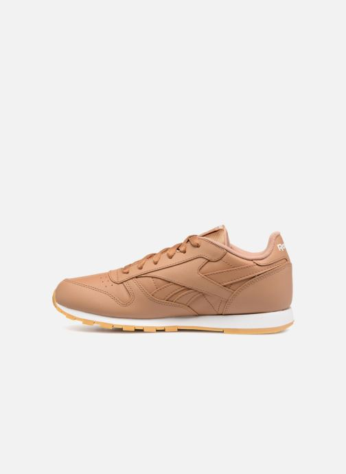 Trainers Reebok Classic Leather J Brown front view