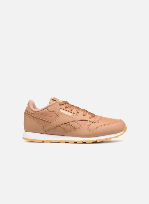Trainers Reebok Classic Leather J Brown back view