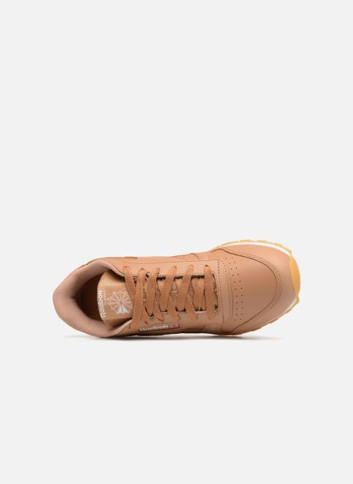 Trainers Reebok Classic Leather J Brown view from the left