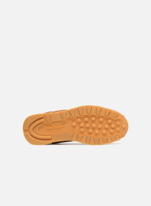 Baskets Reebok Classic Leather J Marron vue haut