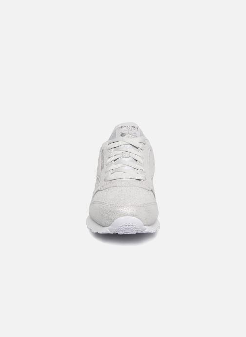 Sneaker Reebok Classic Leather J silber schuhe getragen