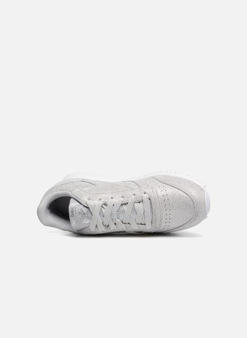 Sneaker Reebok Classic Leather J silber ansicht von links