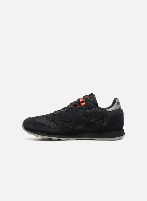Sneakers Reebok Classic Leather J Zwart voorkant