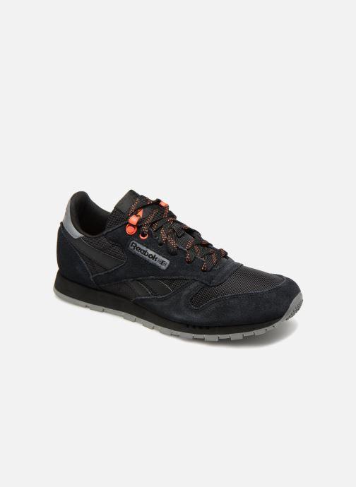 Baskets Reebok Classic Leather J Noir vue détail/paire