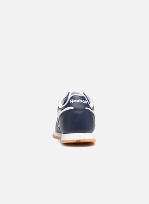 Baskets Reebok Classic Leather J Bleu vue droite