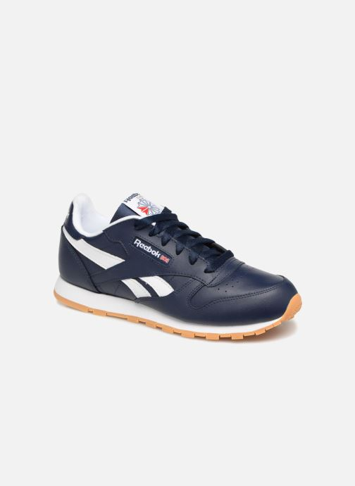 Baskets Reebok Classic Leather J Bleu vue détail/paire