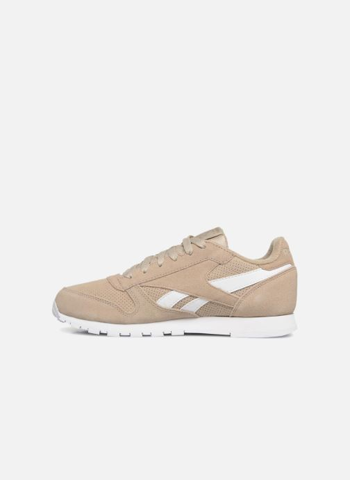 Sneakers Reebok Classic Leather J Beige se forfra