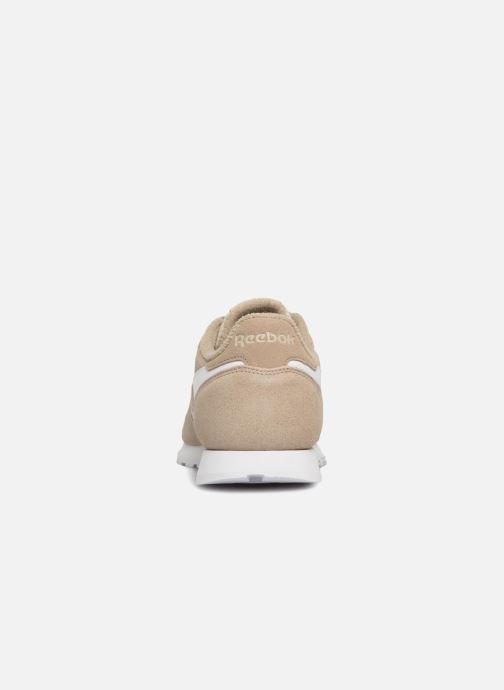 Baskets Reebok Classic Leather J Beige vue droite