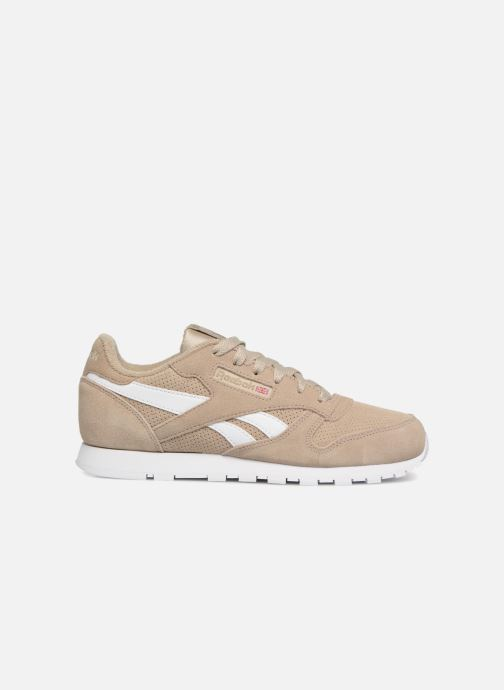 Baskets Reebok Classic Leather J Beige vue derrière
