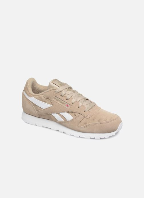 Baskets Reebok Classic Leather J Beige vue détail/paire