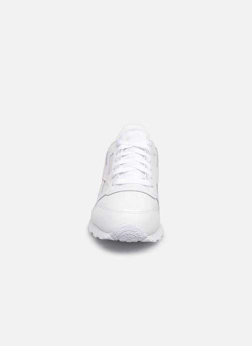 Sneaker Reebok Classic Leather J weiß schuhe getragen