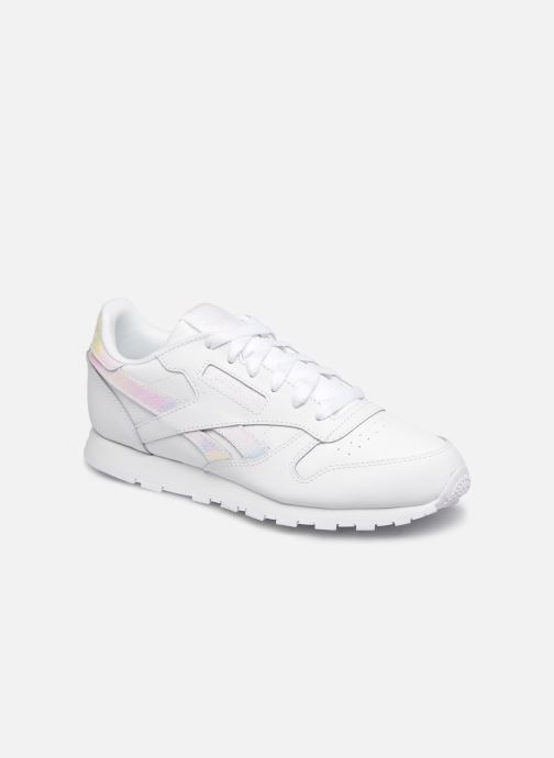 Baskets Reebok Classic Leather J Blanc vue détail/paire