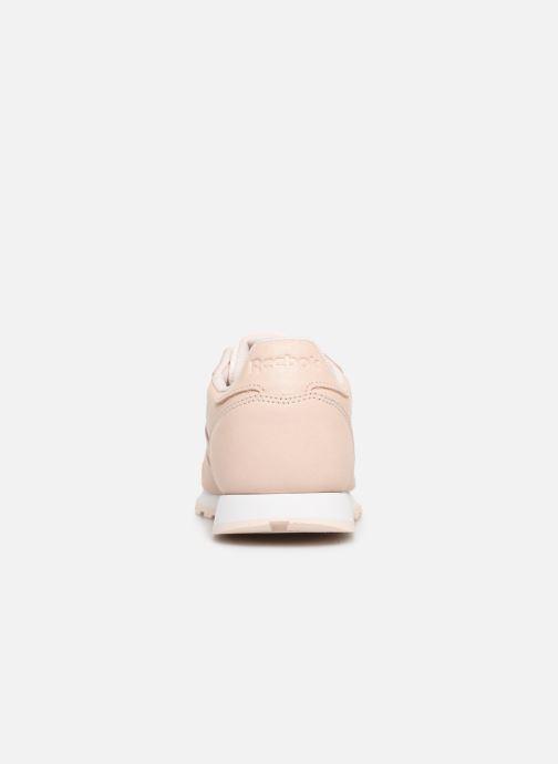 Baskets Reebok Classic Leather J Beige vue droite