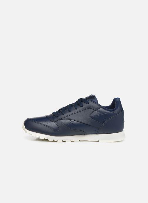 Sneakers Reebok Classic Leather J Blauw voorkant