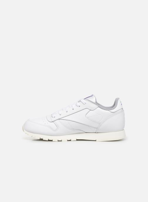 Baskets Reebok Classic Leather J Blanc vue face