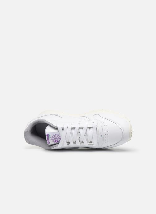 Baskets Reebok Classic Leather J Blanc vue gauche
