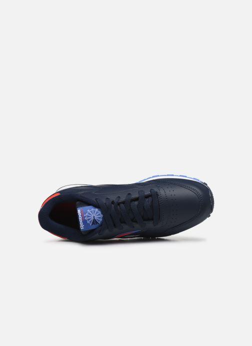 Deportivas Reebok Classic Leather J Azul vista lateral izquierda