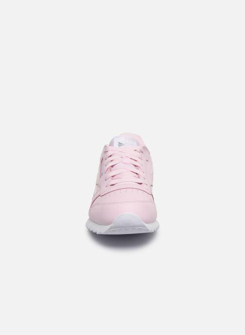Baskets Reebok Classic Leather J Rose vue portées chaussures