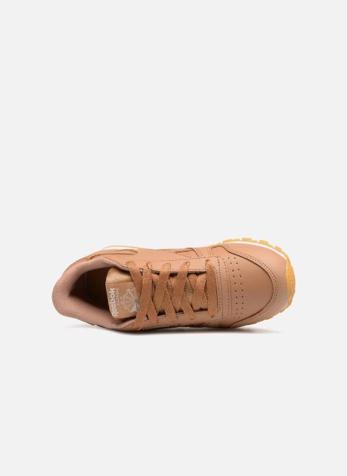 Baskets Reebok Classic Leather C Marron vue gauche