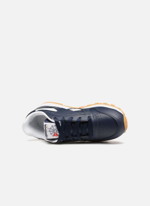Baskets Reebok Classic Leather C Bleu vue gauche