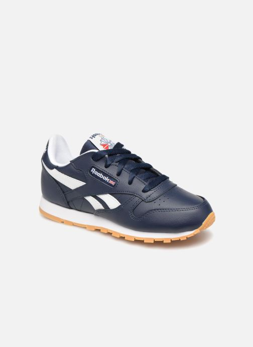 Baskets Reebok Classic Leather C Bleu vue détail/paire