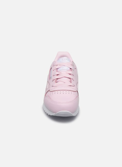 Baskets Reebok Classic Leather C Rose vue portées chaussures