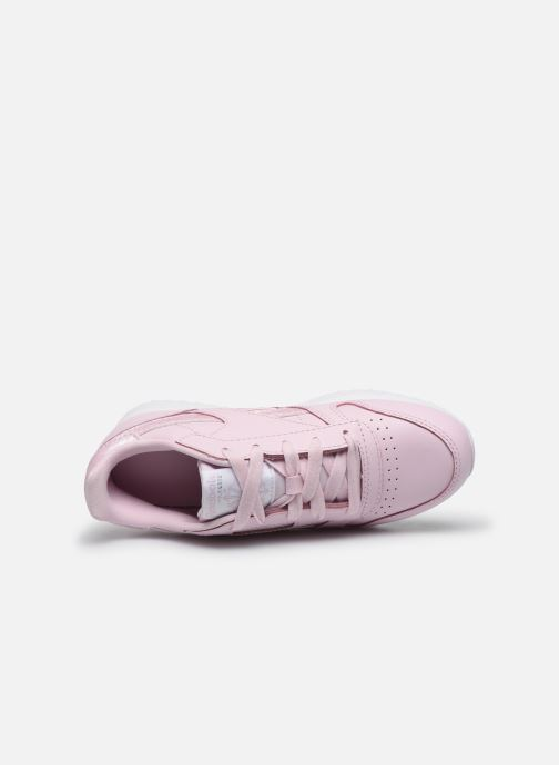 Trainers Reebok Classic Leather C Pink view from the left