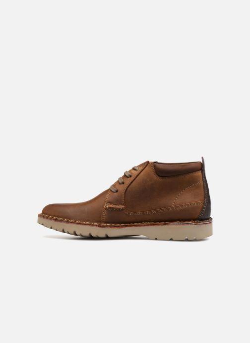 Boots en enkellaarsjes Clarks Vargo Mid Bruin voorkant