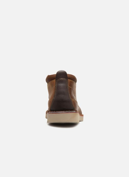 Ankle boots Clarks Vargo Mid Brown view from the right