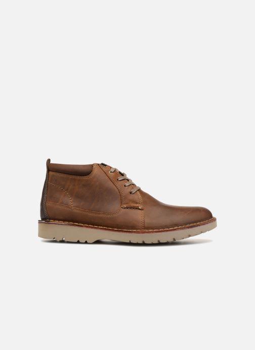 Boots en enkellaarsjes Clarks Vargo Mid Bruin achterkant