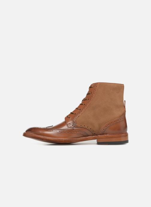 Ankle boots Clarks James Hi Brown front view