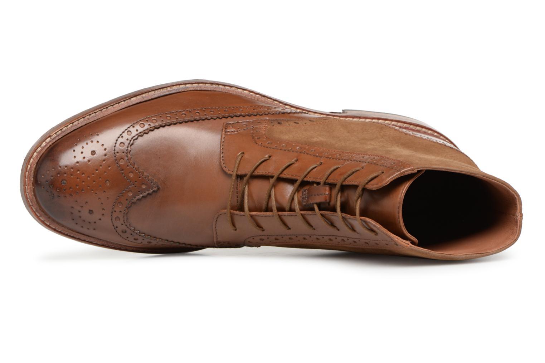 Bottines et boots Clarks James Hi Marron vue gauche