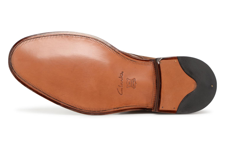Bottines et boots Clarks James Hi Marron vue haut