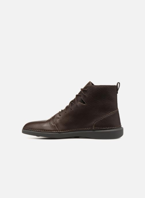 Bottines et boots Clarks Hale Rise Marron vue face