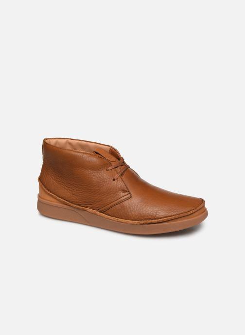 Ankelstøvler Clarks Oakland Rise Brun detaljeret billede af skoene