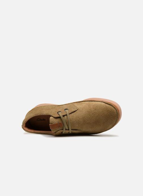 Zapatos con cordones Clarks Oakland Lace Beige vista lateral izquierda