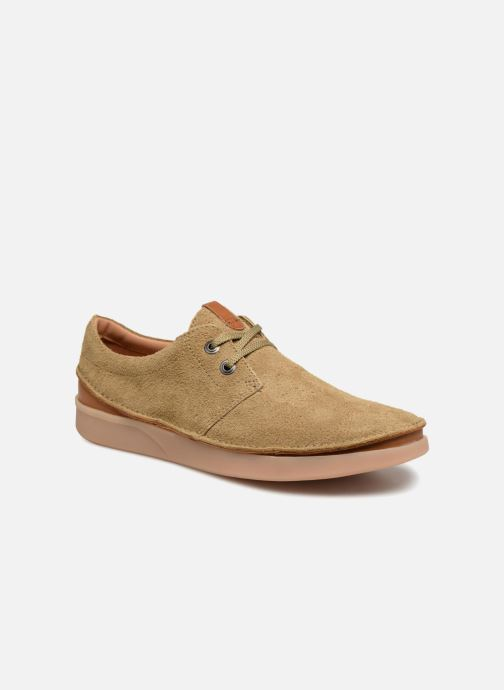Chaussures à lacets Clarks Oakland Lace Beige vue détail/paire