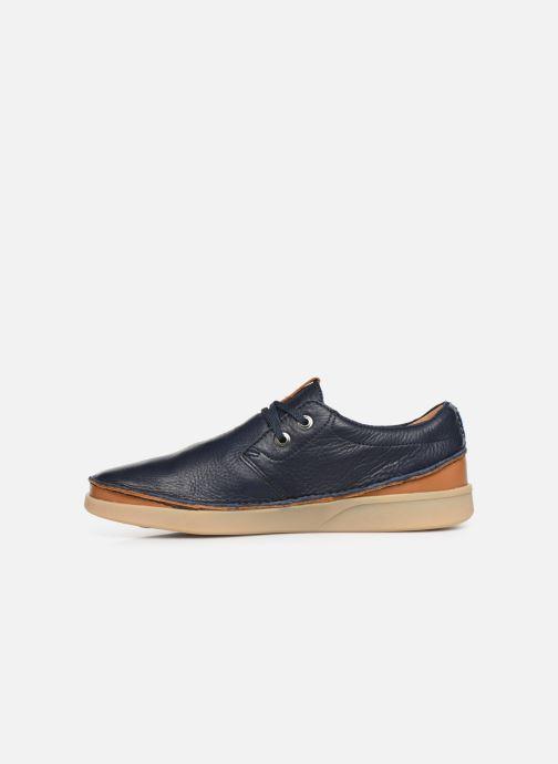 Chaussures à lacets Clarks Oakland Lace Bleu vue face