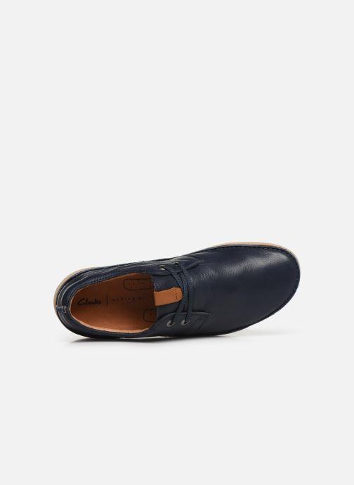 Chaussures à lacets Clarks Oakland Lace Bleu vue gauche