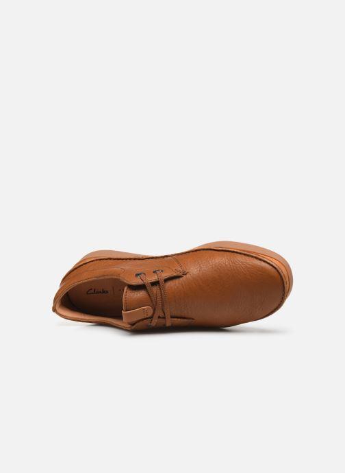 Zapatos con cordones Clarks Oakland Lace Marrón vista lateral izquierda